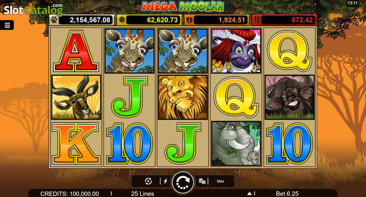 Mega Moolah spilleautomater